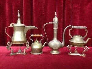 Assorted Vintage Brass Tea Pots $40 EACH BIG ONE,$25 SMALL ONE