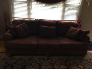 Deep red/burgandy couch