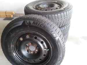 Michelin XI 225-70R16 winter tires with rims