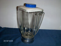 VINTAGE GLASS MIXER FOR ELECTRO KING BLENDER-ART DECO-1960S