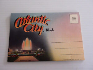 ANCIENNE CARTE POSTALE ATLANTIC CITY 40's TICHNOR QUALITY VIEWS