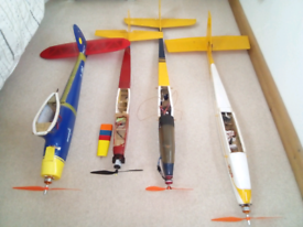 Rc planes/gliders x3 left for sale.