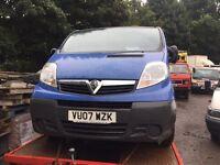 Vauxhall vivaro van 2.0 cdti 6 speed breaking spares