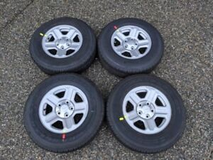2016 Jeep Wrangler OEM Wheels and 225/75/16 Goodyear Tires