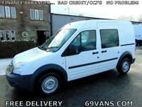 2011 11 FORD TRANSIT CONNECT 5 SEAT CREW VAN, DOUBLE CAB, COMBI,SIDE WINDOWS,
