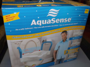 3-in-1 Raised Toilet Seat by AquaSense (NEW/Unused) ** SOLD **