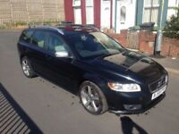2010 59reg Volvo V50 2.0 D4 R Design Black Top Spec