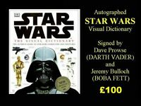 Autographed Hard Back STAR WARS Visual Dictionary