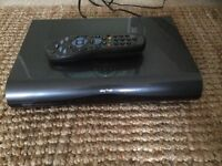 Sky+ HD set top box with remote control