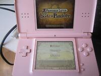 ENSEMBLE Nintendo DS Lite Rose + 7 jeux de DS