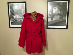 Red Cashmere Duffel Coat