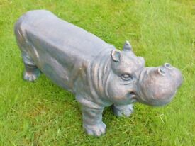 NEW in Resin Hippo Stool Indoor Or Outdoor Use - Christmas Gift