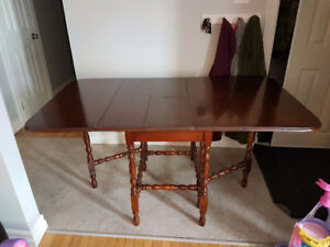 Old wooden folding table