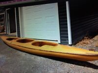 2 person wood kayak (18 feet)
