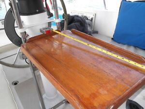 Marine Pedestal teak cockpit table $225