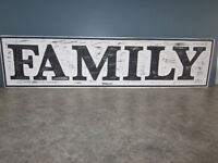UNIQUE HAND PAINTED WEATHERED RUSTIC SIGN