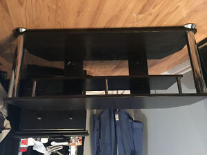Black, good condition tv stand