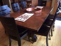 STUNNING, mint condition, copper table-top dining room set.