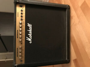 Amplificateur Marshall et pedale multi effects