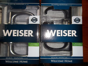 Weiser Hall and Closet Lever Sets - NEW