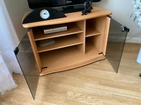 Corner TV cabinet with storage