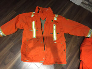 Fire Retardent Insulated Jacket and Bibs