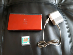 Red Nintendo DS with Animal Crossing