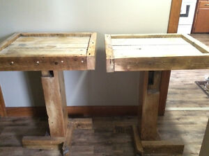 Gorgeous custom made solid barn beam & barn wood tables