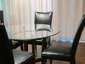 For Sale - Ashley Glass Top Table with Four Chairs