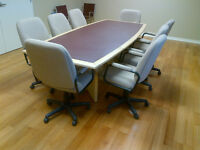 Conference Table & Meeting Chairs Mint Condition