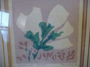 "Original Serigraph by Grace Perreiah ""Good Luck"" L/E 7/14 Stratford Kitchener Area image 3"