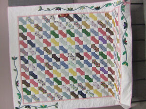 Homemade Quilt called Buds and Bows