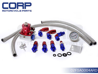 Adjustable Fuel Pressure Regulator + Gauge Kit CIVIC DSM STI GTI EVO