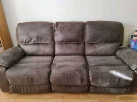 Harveys 3 seater recliner, 2 seater recliner and footstool