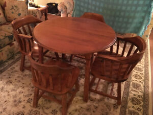 SOLID WOOD DINING TABLE + 4 CHAIRS FOR SALE