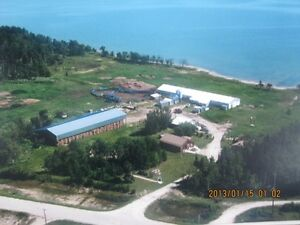 Lakefront cattle ranch in central Manitoba