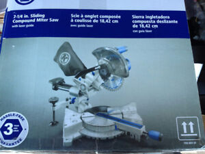 "Husky 7-1/4"" compound mitre saw c/w laser guide"