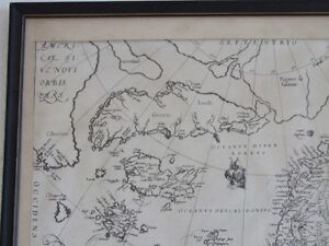 ANTIQUE FRAMED ARCTIC AND SCANDINAVIA MAP London Ontario image 6