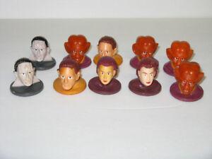1992 SHREDDIES CEREAL STAR TREK STAMP HEADS ~ 10 TOTAL