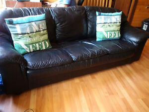 Couch, Black all Leather