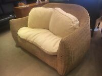 Habitat Waffle Wicker 2 Seater Conservatory Style Sofa - CAN DELIVER