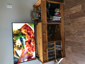 Solid pine TV stand and storage
