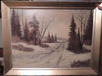 Listed Canadian artist P.Hyttinen old oil painting