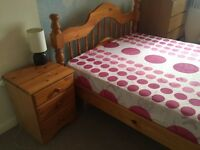 Double Bed with Mattress & side drawer