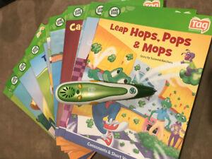 LeapFrog reader + 13 books