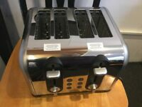 Boxed Russell Hobbs 4 slice toaster