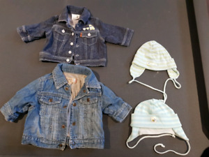 Baby Jean Jackets 3-6 months.