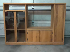 Real Oak Entertainment Unit