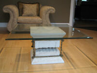 Coffee Table, 2 End Tables, Sofa Table and Mirror