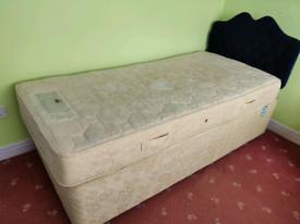 Single Divan Bed, Headboard and Matress £50 O.N.O.